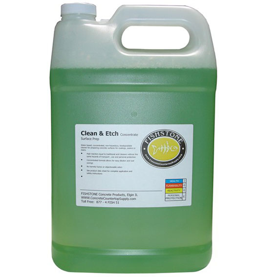 Gfrc supplies fishstone clean etch for Cement cleaning solution